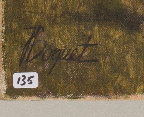 French School, 20th eeuw. À Horace à Helena ma fille. 签名并题写标题(背面),布面油画,无框。尺寸:70 …