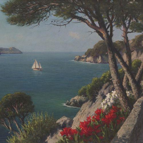 Jacobus Leonardus van der Meide (Gouda 1910 2002), View of the Coast off Mallorc…