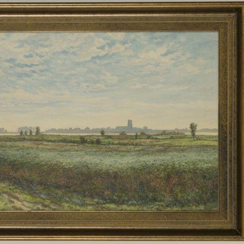 Huibert Antonie Ravenswaaij (Woudrichem 1891 1972), View on Woudrichem on the Me…