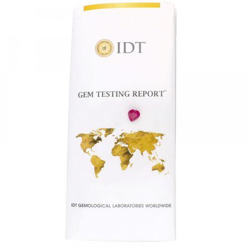 IDT Certified Natural Ruby Gemstone 5.45 ct. Corte: Corazón Mixto, Color: Rojo, …
