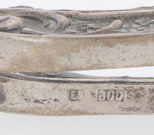 (3) piece lot bracket bags silver. Gegossene Modelle mit u.A. Floralen Verzierun…