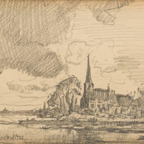 "Pieter ""Piet"" Rackwitsz"" (Rotterdam 1892 1968 Den Haag), A village church on the…"