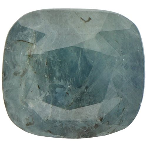 GJSPC Certified Natural Blue Sapphire Gemstone 8.14 ct. Schliff: Cushion Mixed, …