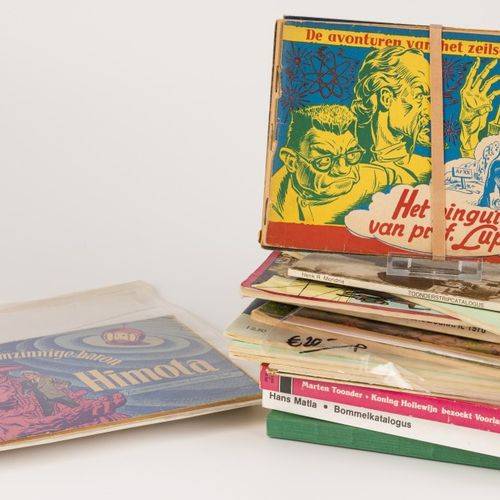 """A lot comprised of various books and comic albums, a.W. The """"Avonturen van Tom P…"""