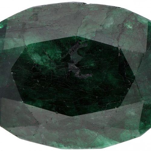 GLI Certified Natural Emerald Gemstone 532.000 ct. Corte: Mixto ovalado, Color: …