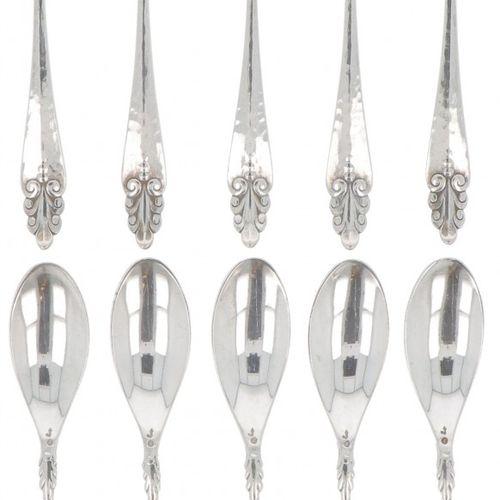 (10) piece set teaspoons silver. Ausgestattet mit schönen Verzierungen und gehäm…