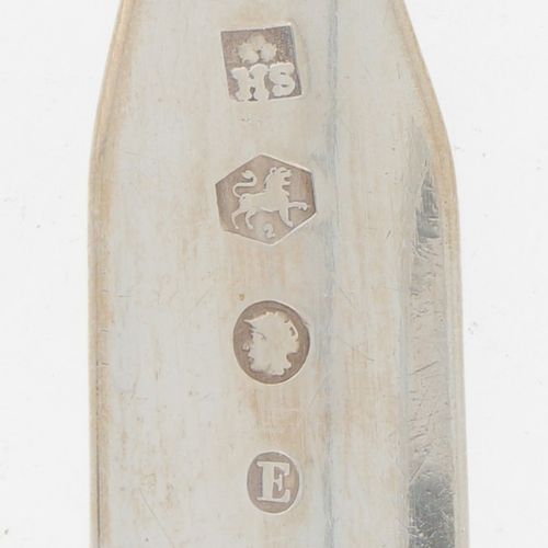 (2) piece set spoon & fork (Rotterdam Sander Jacob van der Hoeven 19th century).…