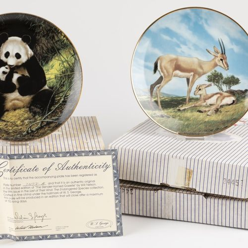 W.S.George fine China Bradex 4 plates Last of Their Kind: The Endangered Species…