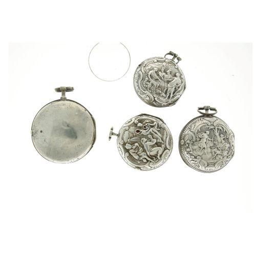Lot silver men's pocket watches approx. 1850 Caja: Plata cuerda manual estado: n…