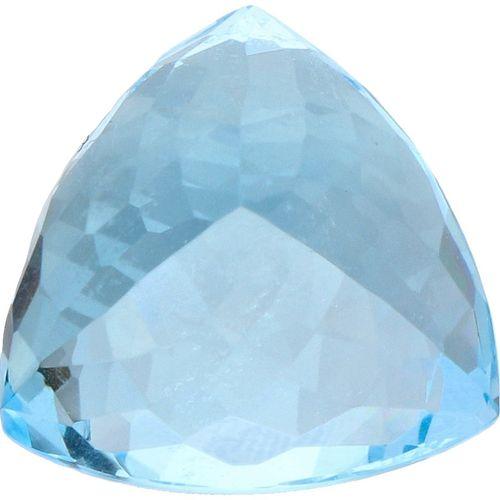 IDT Certified Natural Blue Topaz Gemstone 15.86 ct. Schliff: Dreieck gemischt, F…