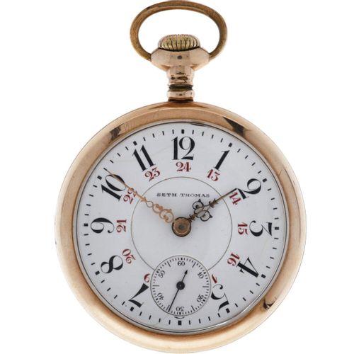 Seth Thomas, Thomaston Conn Men's pocketwatch approx. 1890. 表壳: 钢 手动上链 状态: 差强人意 …