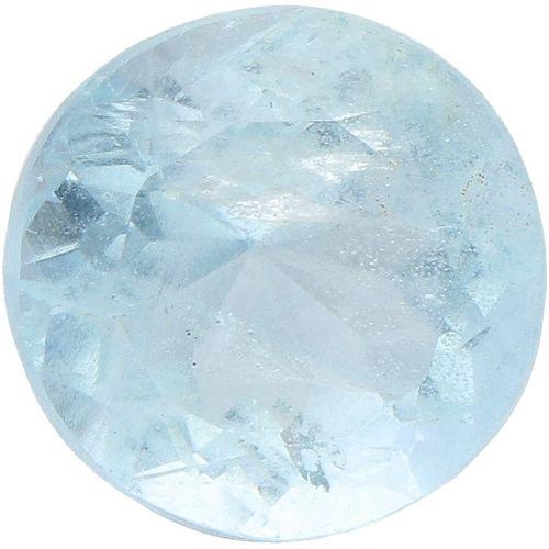 IDT Certified Natural Aquamarine Gemstone 4.10 ct. Schliff: Rund gemischt, Farbe…