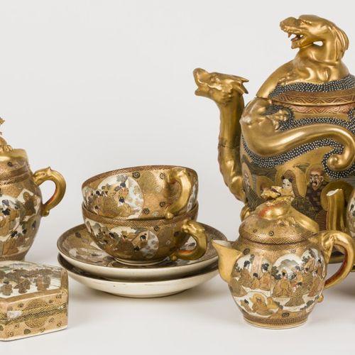 An (8) piece porcelain Satsuma tea set, Japan, 1st quarter of the 20th century. …