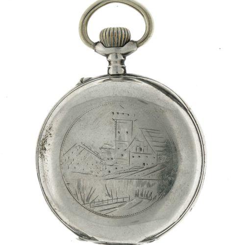 Hollande Pocket Watch ca. 1900. Gehäuse: Silber (800/1000) Zustand: fair Durchme…