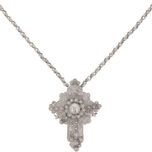 Priest necklace with cross pendant BWG. Ausgestattet mit gelöteten Knopfdekorati…