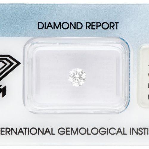 IGI Certified Brilliant Cut Natural Diamond 0.50 ct. Peso: 0,50 ct. (5,00 5,04 x…