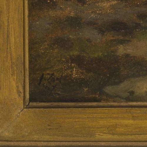 """Jacques Zon (The Hague 1872 1932), """"Op de heide"""" Travellers in a heath landscape…"""