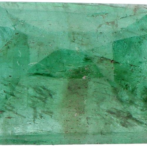 GJSPC Certified Natural Emerald Gemstone 5.17 ct. Schliff: Rechteckige Stufe, Fa…