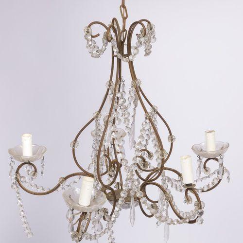 A neo Louis XVI style pendant chandelier, France, 20th century. Avec diverses pa…