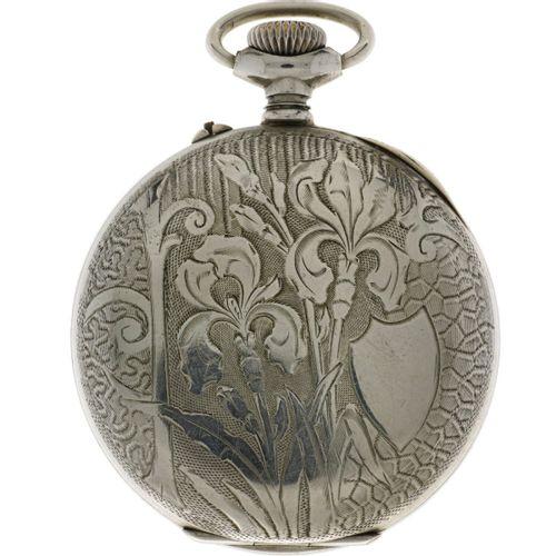 Anchor Escapement Pocket watch Steel Men's pocket watch approx. 1900. Gehäuse: S…