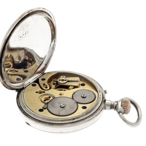 IWC Cylinder Escapement Men's pocket watch apprx. 1850. Gehäuse: Silber Kette: S…