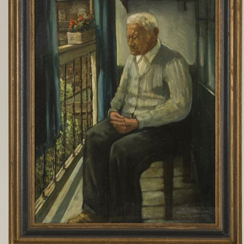 Just Jansen (Rotterdam 1905 1993), Portrait of the father of the painter. 签名(右下角…