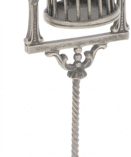 Miniature bird cage silver. Mit vielen Details. Anfang 20. Jahrhundert, Punzen: …
