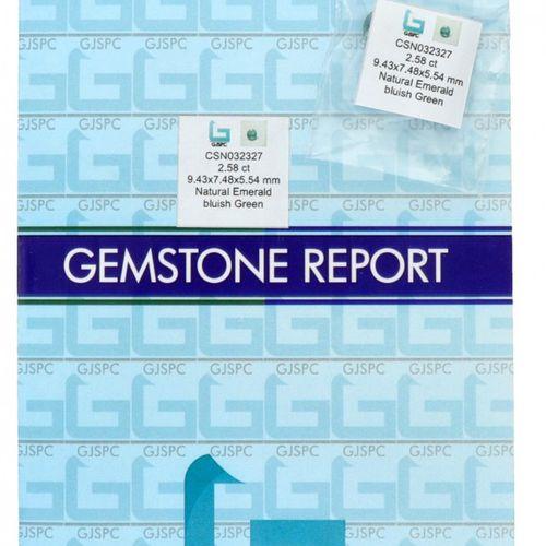 GJSPC Certified Natural Emerald Gemstone 2.58 ct. Schliff: Oval gemischt, Farbe:…