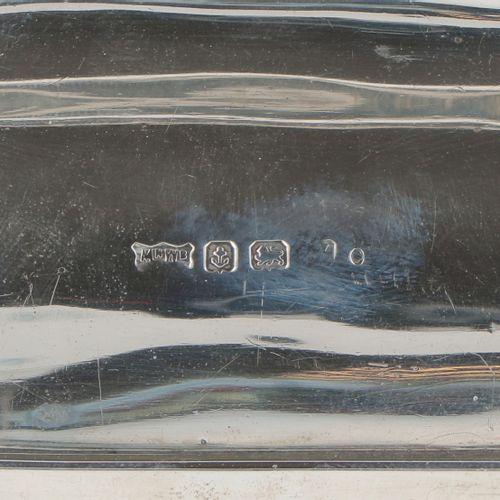 Inkwell silver. Modelo de peso simple con tintero de cristal. Reino Unido, Birmi…