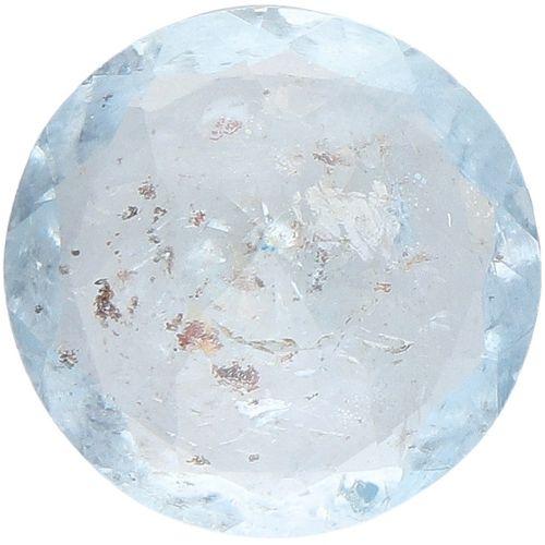 IDT Certified Natural Aquamarine Gemstone 3.70 ct. Corte: Redonda Mixta, Color: …