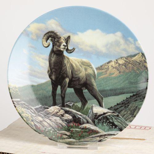 Paul Krapf Dominion China Ltd. Plates, Wild and Free: Canada's Big Game (9) Porc…