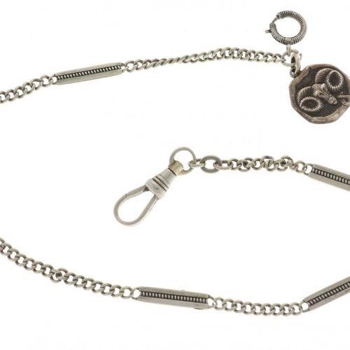 Pocket Watch chain steel Länge: 38 cm Tag Widder Silber (925/1000) Geschätzter W…