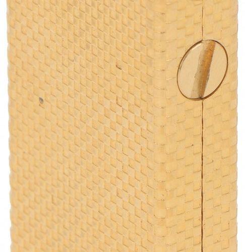 Flaminaire lighter. Vergoldet, mit schachbrettartigem Dekor. Frankreich, Paris, …