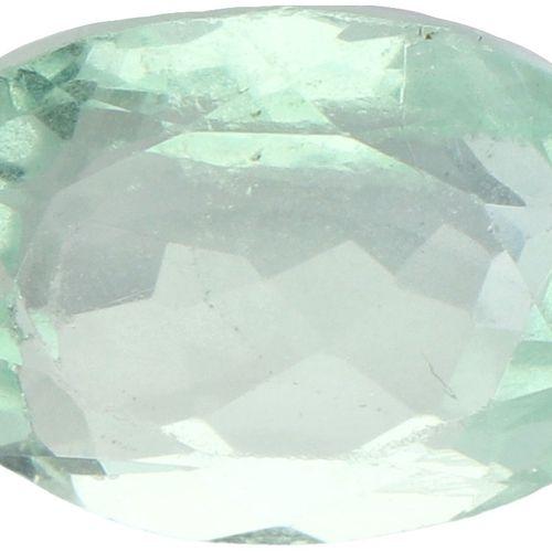 GJSPC Certified Natural Fluorite Gemstone 9.53 ct. Schliff: Oval gemischt, Farbe…