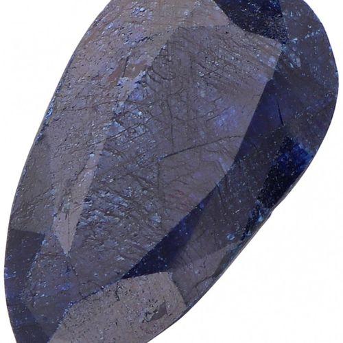 IDT Certified Natural Sapphire Gemstone 27.75 ct. Corte: Pera Mixta, Color: Azul…