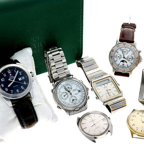 Lot (7) watches. 二手手表。