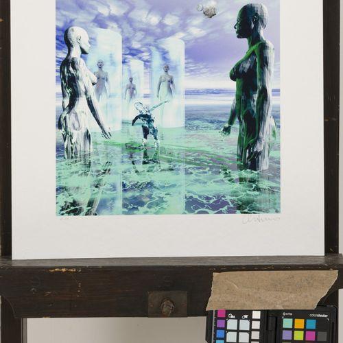 A portfolio containing various graphic works. Divers artistes, sujets, tailles e…