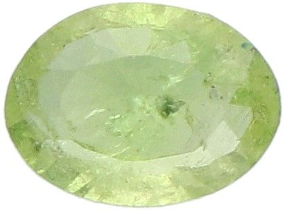 IDT Certified Natural Tsavorite Garnet Gemstone 0.48 ct. Corte: Ovalada Mixta, C…
