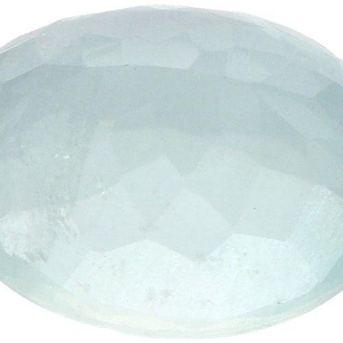 IDT Certified Natural Aquamarine Gemstone 3.82 ct. Schliff: Oval gemischt, Farbe…