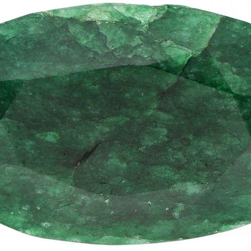 IGL&I Certified Natural Emerald Gemstone 252.10 ct. Corte: Ovalada Mixta, Color:…
