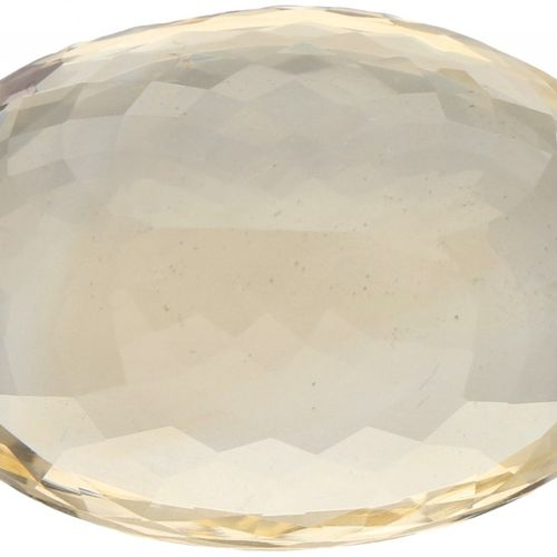 ITLGR Certified Natural Citrine Gemstone 24.41 ct. Corte: Ovalada Mixta, Color: …