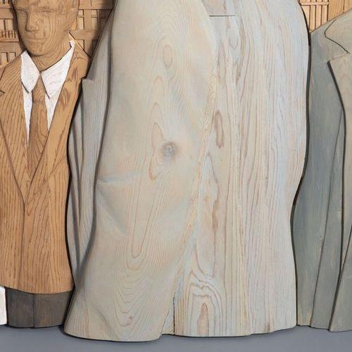 Yves Bosquet (1939): Vie urbaine, sculpture en bois polychrome, avec monographie…