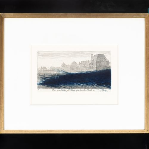"""From a prestigious Parisian Palace Arnulf Rainer (1929) """"View and perspective of…"""