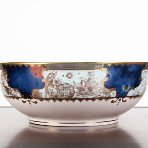 "From a prestigious Parisian Palace Porcelain compotier ""To celebrate the Milenni…"