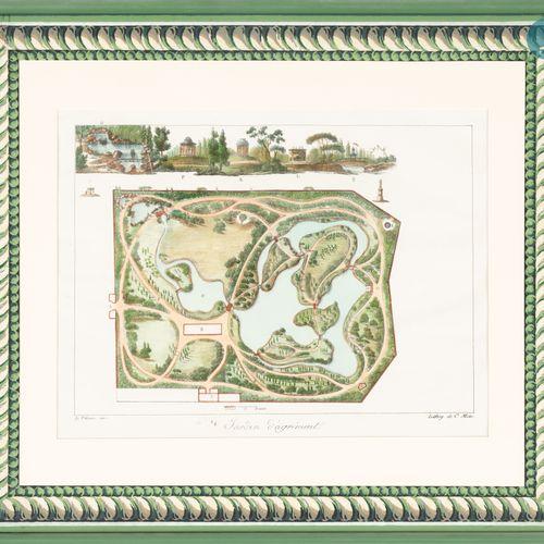 """From a prestigious Parisian Palace Suite of four engravings """"Suite des jardins d…"""