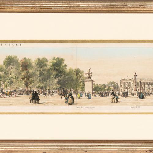 From a prestigious Parisian Palace Avenue des Champs Elysées, reproduction, Pano…