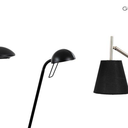 En provenance de l'ancien siège de GUERLAIN Lot de trois lampes articulées noire…