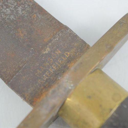 Un couteau Bowie à pointe de lance du 19ème siècle par Manson of Sheffield, 31cm