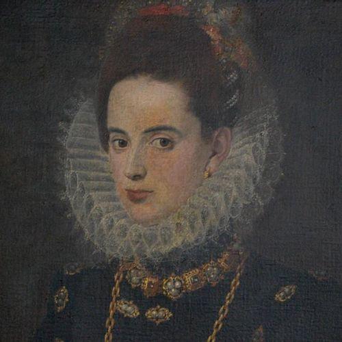 Un portrait espagnol représentant l'Infante Catalina Michela 1585 / Catherine Mi…