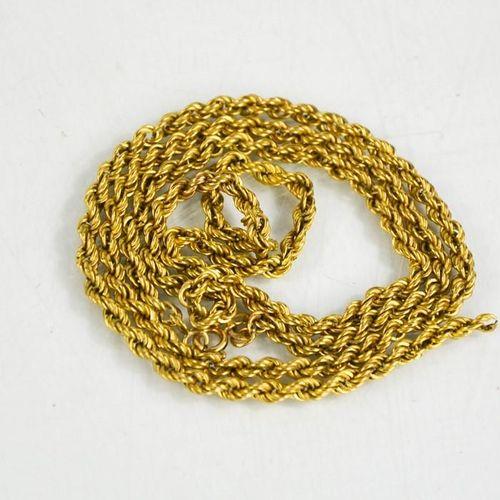 Un collier en or 9ct, 6,5g. A/F